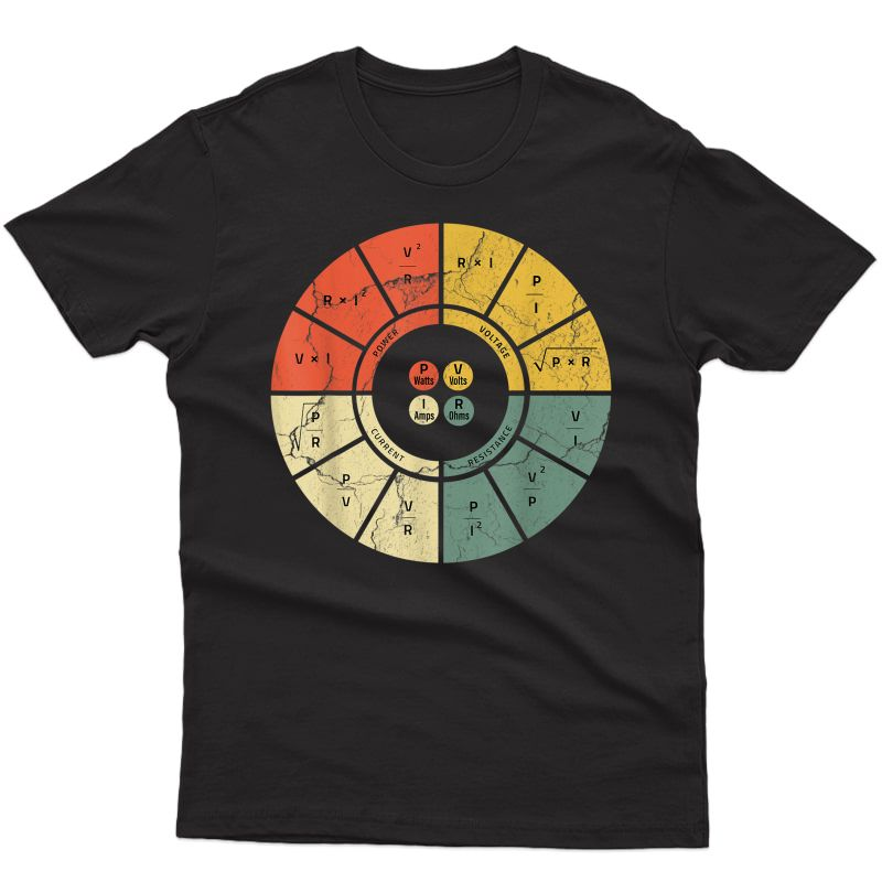 Vintage Ohms Law Diagram Electrical Electronics Engineer T-shirt