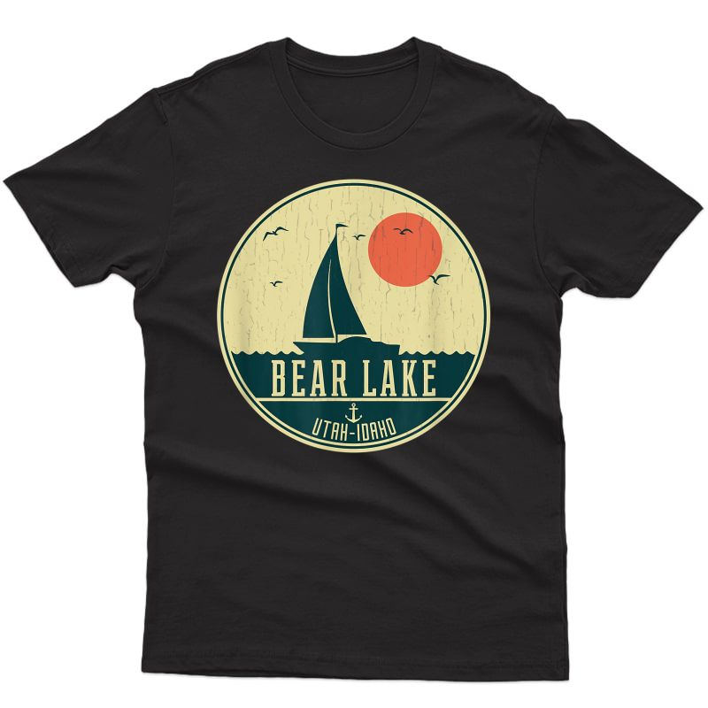 Vintage Sailing Bear Lake Idaho-utah T-shirt