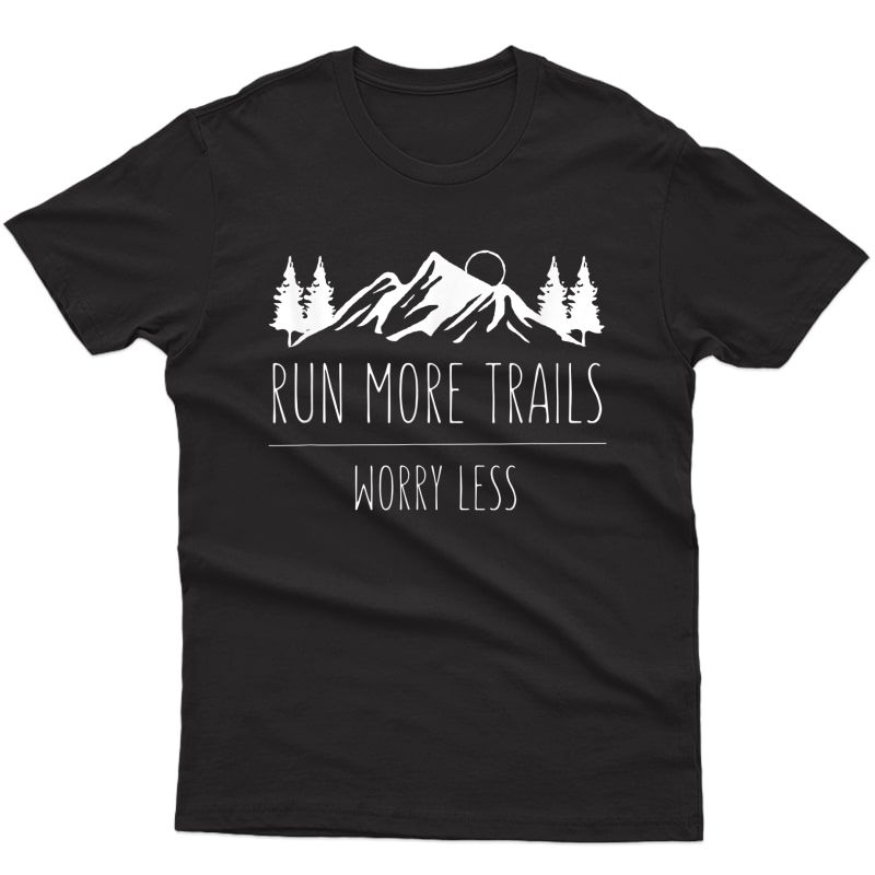 Vintage Trail Running Run More Trail Retro For Runners T-shirt
