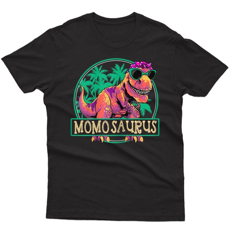 Mother's Day Gift Momosaurus T Rex Momo Saurus Dinosaur T-shirt