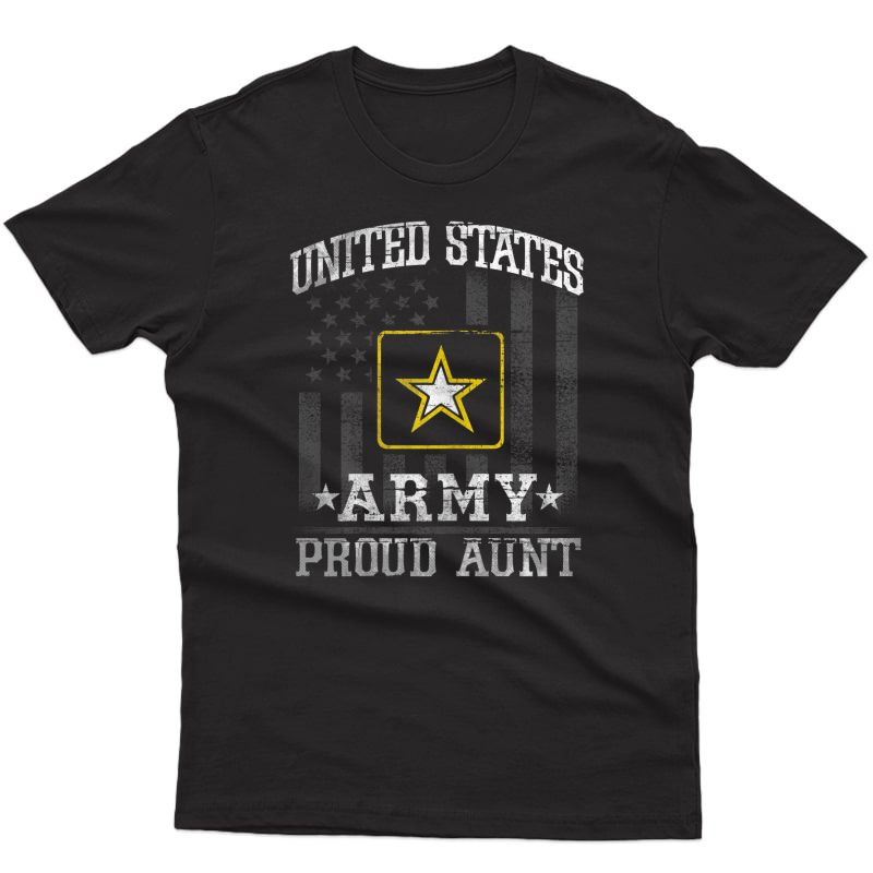 Vintage Us Army Proud Aunt T Shirt