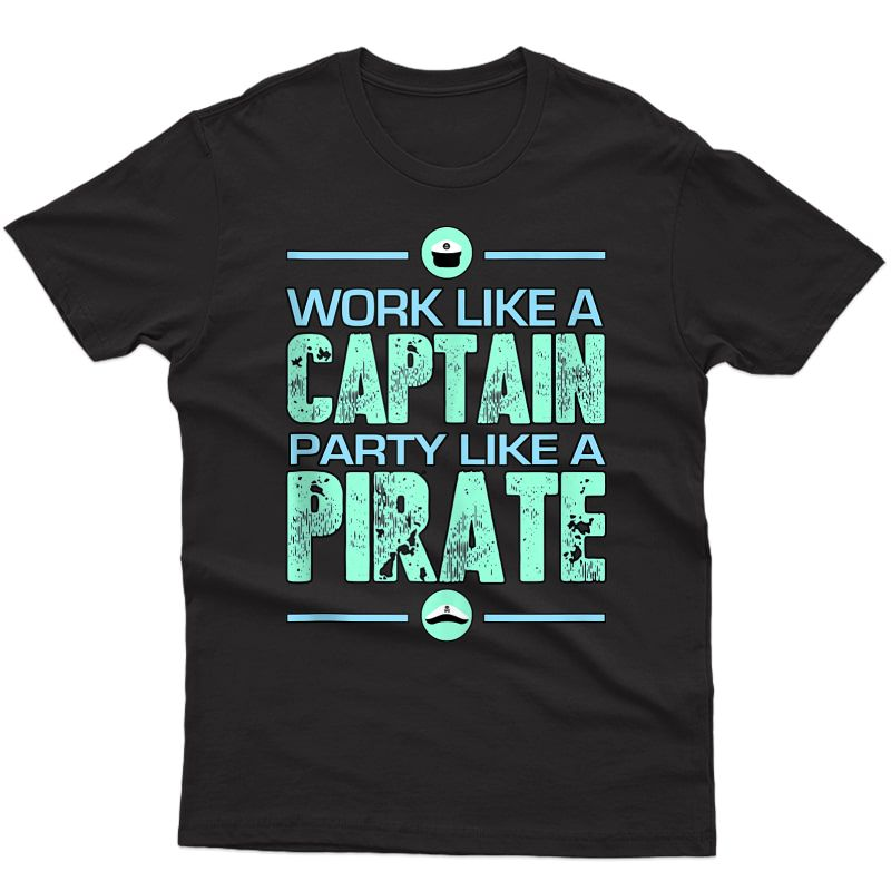 Work Like A Captain Pirate Party Funny L Sailing Tank Top Shirts