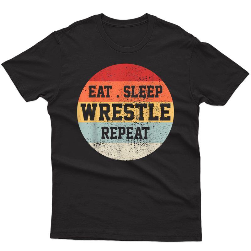 Wrestling Wrestler Retro Vintage Funny Gift T-shirt