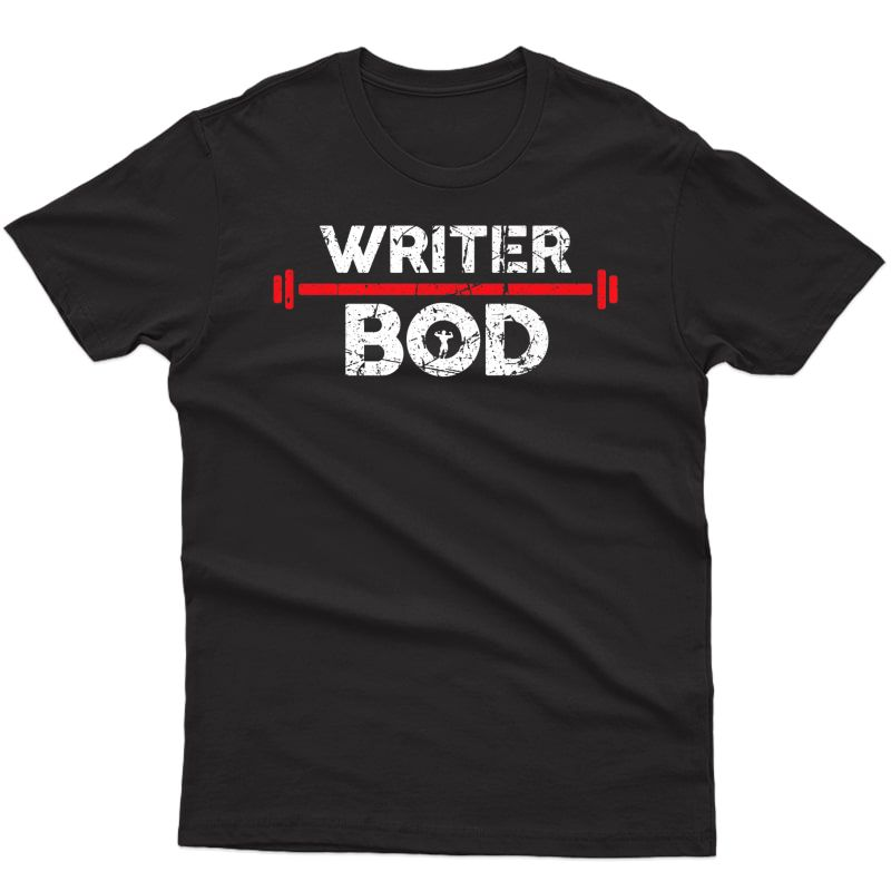 Writer Bod, Editor Blogger Exercise Gym Weightlifting Premium T-shirt